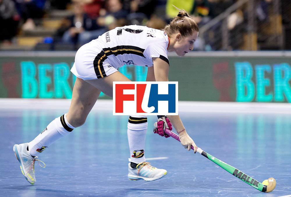 BERLIN - Indoor Hockey World Cup<br /> Women: Ukraine - Germany<br /> foto: Cecile Pieper.<br /> WORLDSPORTPICS COPYRIGHT FRANK UIJLENBROEK