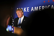 Republican presidential candidate Donald Trump holds a town hall meeting in Windham,  N.H. Monday, Jan. 11, 2016.  CREDIT: Cheryl Senter for The New York Times