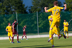 Husmani Zeni and Pozeg Rudi of NK Domzale during football match between NK Triglav Kranj and NK Domzale, 5th Round of Prva Liga, on 12 August, 2012, in Sportni center, Kranj, Slovenia. (Photo by Grega Valancic / Sportida)