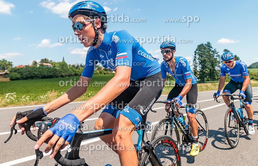 05.07.2017, Altheim, AUT, Ö-Tour, Österreich Radrundfahrt 2017, 3. Etappe von Wieselburg nach Altheim (226,2km), im Bild Artem Nych (RUS, Gazprom - Rusvelo) // Artem Nych (RUS, Gazprom - Rusvelo) during the 3rd stage from Wieselburg to Altheim (199,6km) of 2017 Tour of Austria. Altheim, Austria on 2017/07/05. EXPA Pictures © 2017, PhotoCredit: EXPA/ JFK
