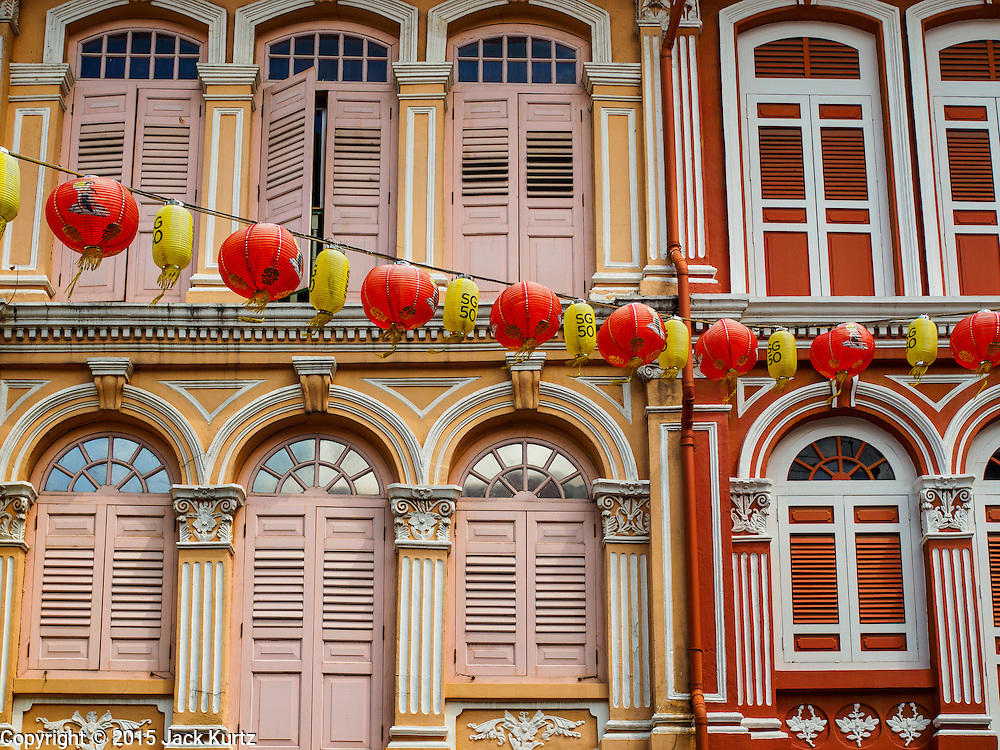 26 DECEMBER 2015 - SINGAPORE, SINGAPORE: Restored traditional shophouses in Singapore's Chinatown district now house restaurants, art galleries and boutique hotels.      PHOTO BY JACK KURTZ