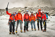 Mountainguide Sandy with his team on Mer de Glace