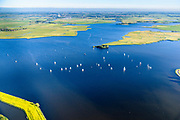 Nederland, Noord-Holland, Gemeente Castricum, 13-06-2017; Alkmaardermeer, met in het midden starteiland, links De Woude.<br /> <br /> luchtfoto (toeslag op standaard tarieven);<br /> aerial photo (additional fee required);<br /> copyright foto/photo Siebe Swart