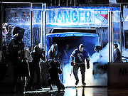 New York Rangers right wing Brandon Prust skates on to the ice during team introductions before an NHL hockey game against the Toronto Maple Leafs at Madison Square Garden in N.Y. (AP Photo / Kathy Kmonicek)