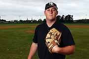 Christian Wise, New Zealand Baseball team headshots, portraits and team photo sesison. Howick-Pakuranga Baseball Grounds, Lloyd Elsmore Park, Auckland. 2 November 2012. Photo: William Booth/photosport.co.nz