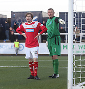 Craig Wighton and Rab' Douglas - Forfar Athletic v Brechin City - SPFL League One at Station Park<br /> <br />  - &copy; David Young - www.davidyoungphoto.co.uk - email: davidyoungphoto@gmail.com