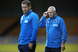 """Port Valle coach David Kelly (right) on the touchline with Port Vale manager Michael Brown (left) during the pre-season friendly match at Vale Park, Stoke. PRESS ASSOCIATION Photo. Picture date: Tuesday August 1, 2017. See PA story SOCCER Port Vale. Photo credit should read: Nick Potts/PA Wire. RESTRICTIONS: EDITORIAL USE ONLY No use with unauthorised audio, video, data, fixture lists, club/league logos or """"live"""" services. Online in-match use limited to 75 images, no video emulation. No use in betting, games or single club/league/player publications."""