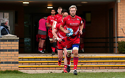 Jordan Crane of Bristol Rugby leads his side out at Doncaster Knights - Mandatory by-line: Robbie Stephenson/JMP - 02/12/2017 - RUGBY - Castle Park - Doncaster, England - Doncaster Knights v Bristol Rugby - Greene King IPA Championship