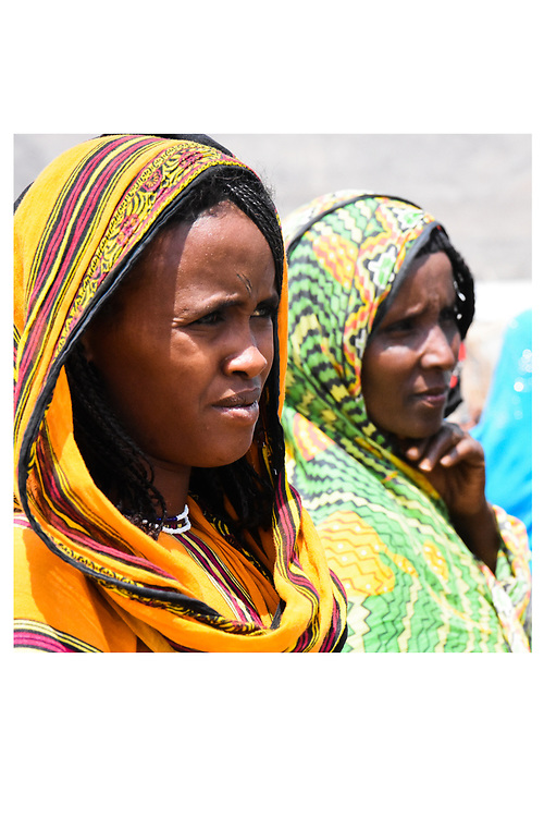 Young women explain the cooperative in the Asaita Refugee Camp, Afar, Ethiopia 2016