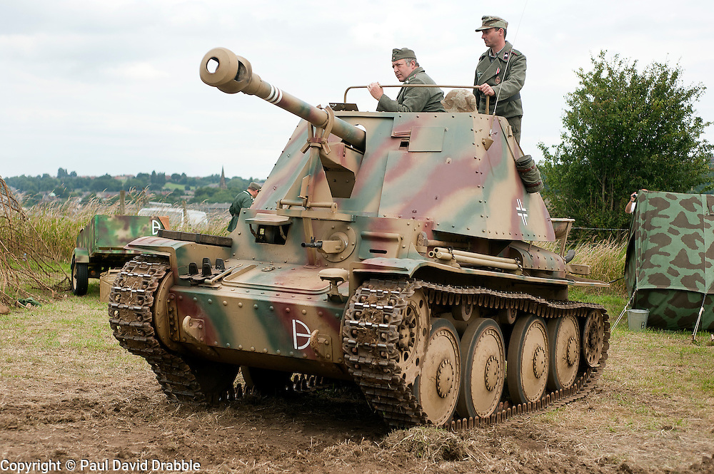 Marder III Ausf H (Sd.Kfz. 138) Tank Killer of the 21st Panzer Division at Spam Wartime Weekend June 2011<br />