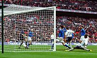 Photo: Alan Crowhurst.<br />England U21 v Italy U21. International Friendly. 24/03/2007. England's Matt Derbyshire (C) scores 3-2.