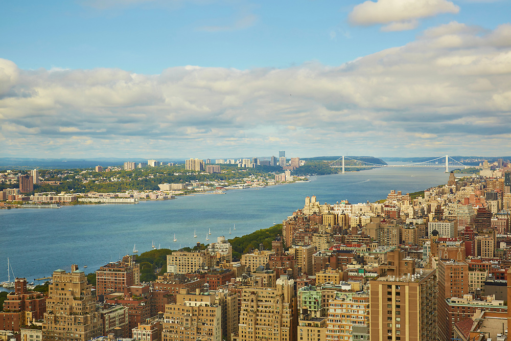 View of the Hudson River and George Washington Bridge from 160 West 66th Street, 58th floor