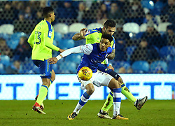 Sean Clare of Sheffield Wednesday takes on Bradley Johnson of Derby County - Mandatory by-line: Robbie Stephenson/JMP - 13/02/2018 - FOOTBALL - Hillsborough - Sheffield, England - Sheffield Wednesday v Derby County - Sky Bet Championship