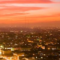 Where: Jakarta, Indonesia at sunset.