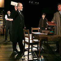 An Enemy of the People by Henrik Ibsen;<br /> Directed by Howard Davies;<br /> Hugh Bonneville as Dr Tomas Stockmann;<br /> William Gaminara as Peter Stockmann;<br /> Abigail Cruttenden as Mrs Stockmann;<br /> Michael Fox as Billing;<br /> Chichester Festival Theatre, Chichester, UK;<br /> 29 April 2016
