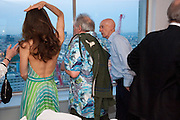 CATHERINE BAILEY; DAVID BAILEY; ALLEN JONES, Dinner hosted by Julia Peyton-Jones and Hans Obrist for the Council of the Serpentine to celebrate: Jeff Koons, Popeye Series. Paramount Club, Paramount Centre Point. London. 30 June 2009