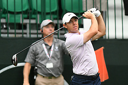 May 3, 2019 - Charlotte, NC, U.S. - CHARLOTTE, NC - MAY 03: Rory Mcllroy plays his shot from the tenth tee tied for the lead in of the Wells Fargo Championship on March 03, 2019 at Quail Hollow Club in Charlotte,NC. (Photo by Dannie Walls/Icon Sportswire) (Credit Image: © Dannie Walls/Icon SMI via ZUMA Press)