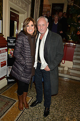 Actress LINDA GRAY and SIMON HONEY at the opening night of Cinderella at The New Wimbledon Theatre, 93 The Broadway, London SW19 1QG on 9th December 2014.