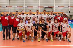 23-09-2016 NED: EK Kwalificatie Nederland - Oostenrijk, Koog aan de Zaan<br /> Nederland pakt de eerste set 25-17 / Team Oostenrijk
