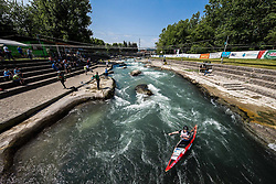 Eva Jeklin of Slovenia competes in Kayak (K1) Women during International Slalom Kayak-Canoe competition, on May 6, 2018 in Tacen, Ljubljana, Slovenia. Photo by Vid Ponikvar / Sportida