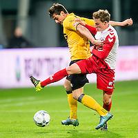 UTRECHT - Utrecht - Roda JC , Voetbal , Eredivisie, Seizoen 2015/2016 , Stadion Galgenwaard , 17-10-2015 ,Roda JC speler Tomi Juric (l) in duel met FC Utrecht speler Rico Strieder (r)