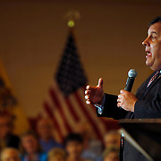 Haddonfield, NJ / 2012 New Jersey Governor Chris Christie speaks to an audience during a town hall meeting at Haddonfield Central Middle School Tuesday afternoon.  Photo by Mike Roy / The Star-Ledger