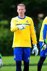 Bristol Rovers' goalkeeper, Steve Mildenhall - Photo mandatory by-line: Dougie Allward/JMP - Tel: Mobile: 07966 386802 24/06/2013 - SPORT - FOOTBALL - Bristol -  Bristol Rovers - Pre Season Training - Npower League Two