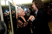 DAME JUDY DENCH; TREVOR NUNN, The South Bank Sky Arts Awards , The Dorchester Hotel, Park Lane, London. January 25, 2011,-DO NOT ARCHIVE-© Copyright Photograph by Dafydd Jones. 248 Clapham Rd. London SW9 0PZ. Tel 0207 820 0771. www.dafjones.com.