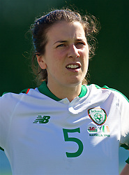 MARBELLA, SPAIN - Thursday, February 28, 2019: Republic of Ireland's Niamh Fahey lines-up before an international friendly match between Wales and Republic of Ireland at the Marbella Football Centre. (Pic by David Rawcliffe/Propaganda)