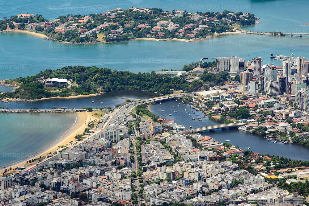 Brasil - Espirito Santo - Vitoria - Vista aerea de Jardim da Penha, Canal de Camburi, Praia do Canto, Ilha do Frade e Ilha do Boi - Foto: Gabriel Lordello/ Mosaico Imagem