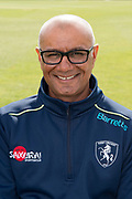 Min Patel (second XI coach) during the Kent County Cricket Club Photocall 2017 at the Spitfire Ground, Canterbury, United Kingdom on 31 March 2017. Photo by Martin Cole.