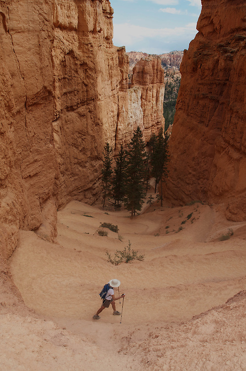 Hiker, from Above, Bryce Canyon National Park