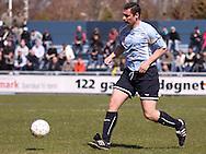 FODBOLD: David Rasmussen (Helsingør) under kampen i Danmarksserien, pulje 1, mellem Elite 3000 Helsingør og Boldklubben Frem den 25. april 2010 på Helsingør Stadion. Foto: Claus Birch