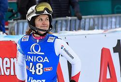 28.12.2017, Hochstein, Lienz, AUT, FIS Weltcup Ski Alpin, Lienz, Slalom, Damen, 2. Lauf, im Bild Aline Danioth (SUI) // Aline Danioth of Switzerland reacts after her 2nd run of ladie's Slalom of FIS ski alpine world cup at the Hochstein in Lienz, Austria on 2017/12/28. EXPA Pictures © 2017, PhotoCredit: EXPA/ Erich Spiess