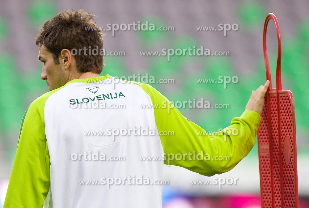 Goran Sukalo during practice session of National team of Slovenia 1 day before EURO 2012 Qualifications match against Italy, on March 24, 2011, SRC Stozice, Ljubljana, Slovenia. (Photo by Vid Ponikvar / Sportida)