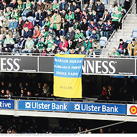 11 February 2007; Supporters of Marcus Horan, from Cloonlara, Co. Clare, at the game. RBS Six Nations Rugby Championship, Ireland v France, Croke Park, Dublin. Picture credit: Ray McManus / SPORTSFILE