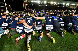 Bristol Rugby players and staff take a knee after the game - Mandatory byline: Joe Meredith/JMP - 25/05/2016 - RUGBY UNION - Ashton Gate Stadium - Bristol, England - Bristol Rugby v Doncaster Knights - Greene King IPA Championship Play Off FINAL 2nd Leg.