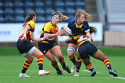 Cara Brincat of Worcester Valkyries is tackled by Rachel Laqeretabua of Richmond Women- Mandatory by-line: Nizaam Jones/JMP - 22/09/2018 - RUGBY - Sixways Stadium - Worcester, England - Worcester Valkyries v Richmond Women - Tyrrells Premier 15s