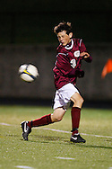 High School Soccer Player from Genoa, Ohio being struck by the ball in the back.