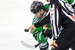 12.02.2015, Hala Tivoli, Ljubljana, SLO, EBEL, HDD Telemach Olimpija Ljubljana vs Moser Medical Graz, 2. Qualification Round, in picture Matej Hocevar (HDD Telemach Olimpija, #14) during the Erste Bank Icehockey League 2. Qualification Round between HDD Telemach Olimpija Ljubljana and Moser Medical Graz 99ers at the Hala Tivoli, Ljubljana, Slovenia on 2015/02/12. Photo by Morgan Kristan / Sportida