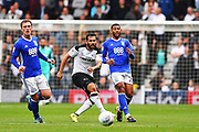 Derby County midfielder Bradley Johnson (15) passes the ball during the EFL Sky Bet Championship match between Derby County and Birmingham City at the Pride Park, Derby, England on 23 September 2017. Photo by Jon Hobley.