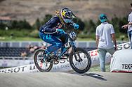 Women Elite #32 (CRAIN Brooke) USA at the 2018 UCI BMX World Championships in Baku, Azerbaijan.
