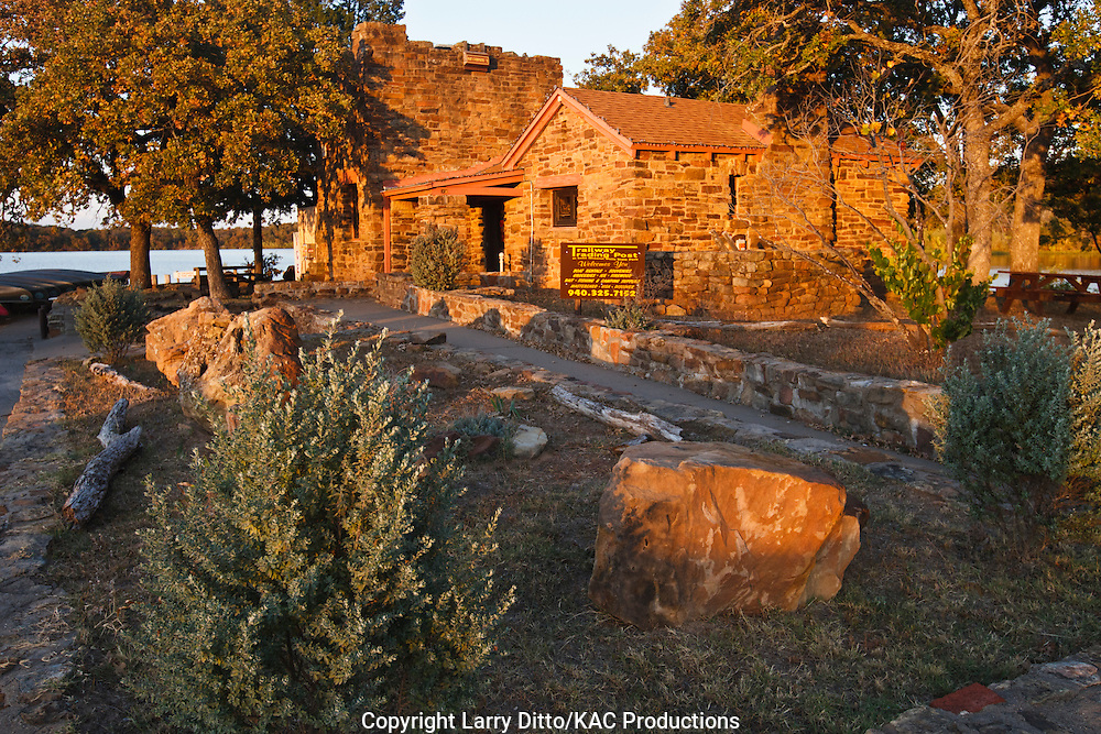 visitor center, Lake Mineral Wells State Park, Mineral Wells, Texas, autumn