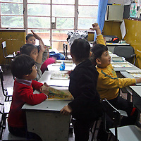 Asia, China, Shanghai. A classroom at The Children's Palace, where Chinese youth study the traditional and cultural arts.