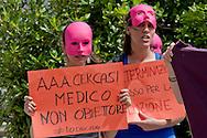 Roma 22 Maggio 2014<br /> Dopo 36 anni dall'approvazione  delle legge 194 sull'aborto , un gruppo di attiviste e giovani donne, hanno  manifestato all'ospedale Policlinico Umberto I,  contro i medici obiettori, per un aborto libero gratuito e garantito e per una sensualità consapevole e autodeterminata.<br /> Rome May 22, 2014 <br /> After 36 years of the approval of Law 194 on abortion, a group of activists and young women , protested  at  hospital Policlinico Umberto I, against the physicians objectors,  for a free and guaranteed free abortion and for an aware sensuality and self-determined.