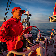 Leg Zero, St. Malo - Lisbon:  on board xx, . Photo by Jen Edney/Volvo Ocean Race. 15August, 2017