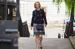 London, July 18th 2017. Chief Secretary to the Treasury Liz Truss attends the last cabinet meeting before the Parliamentary summer recess at Downing Street in London.
