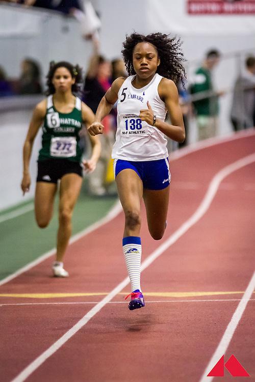 ECAC Indoor Champs, womens 200 heat 1, Coleman, Latazah          JR Delaware