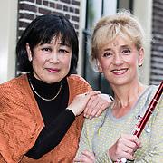 NLD/Huizen/20140430 - Fluitiste Berdien Stenberg met pianiste Rie Tanaka