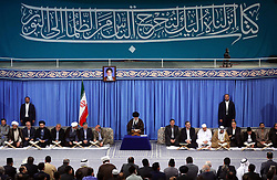 Supreme Leader Ayatollah Ali Khamenei appears at a public meeting on April 26, 2018 in Tehran, Iran. Photo by Parspix/ABACAPRESS.COM